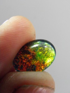 OPAL TRIPLET (14x10mm) red/orange A$60 Code...Tr11