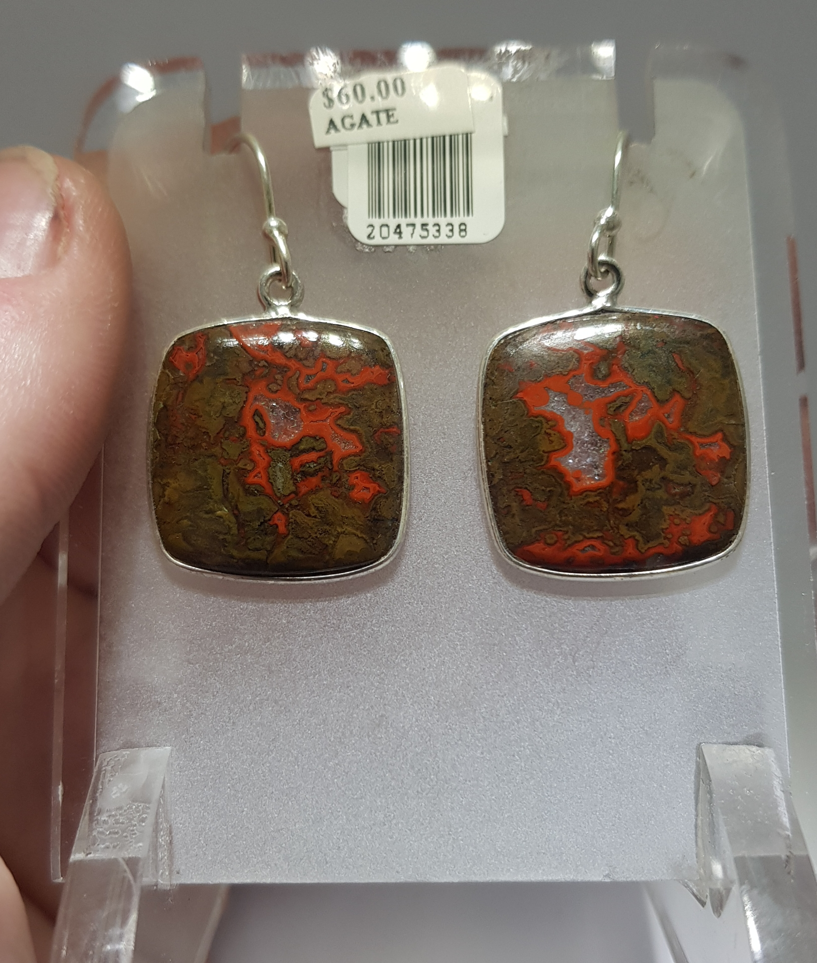 Agate in Rhyolite earrings