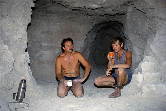 Peter & Robert having a tea break