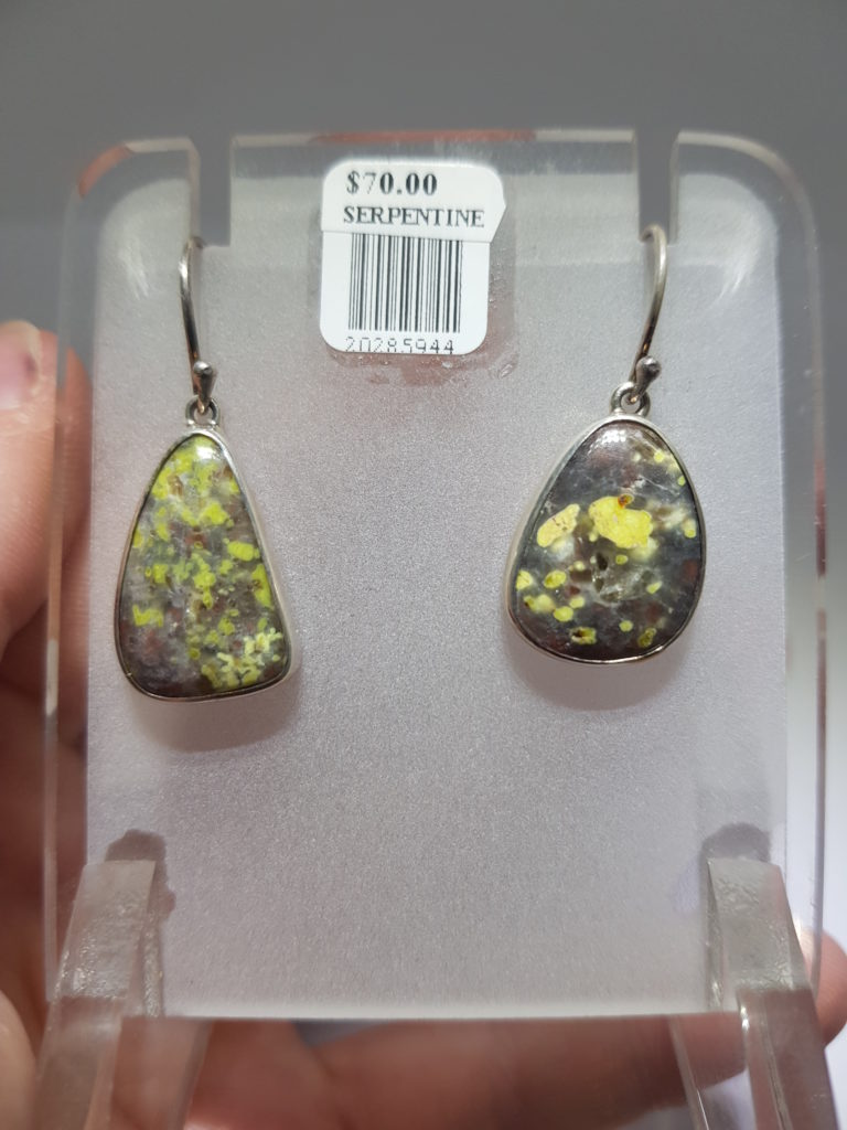 Serpentine earrings